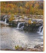 The Waterfalls Wood Print