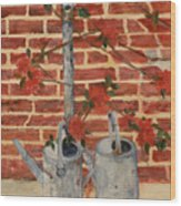 The Watering Cans Wood Print