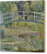 The Waterlily Pond With The Japanese Bridge Wood Print