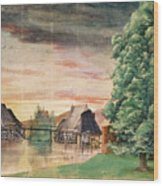 The Watermill Wood Print