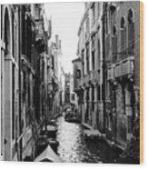 The Waterways Of Venice Wood Print