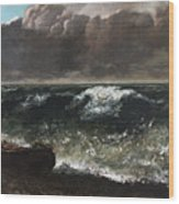 The Wave 1869 1 Wood Print