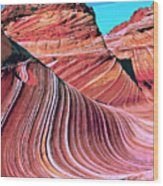 The Wave 2 Wood Print