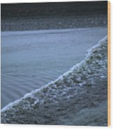 The Wave Of A Bore Tide Traveling Wood Print