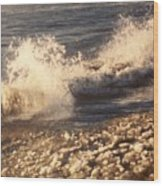 The Waves Of Waverly Beach Wood Print
