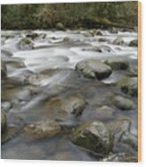 The Way A River Flows Wood Print