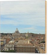 The Way To St. Peter's Basilica Wood Print