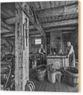 The Way We Were - The Blacksmith 2 Bw Wood Print