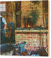 The Way We Were - The Blacksmith - Paint Wood Print