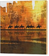 The Weary Journey Wood Print