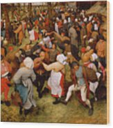 The Wedding Dance Wood Print by Pieter the Elder Bruegel
