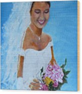 the wedding day of my daughter Daniela Wood Print