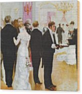 The Wedding Reception Wood Print