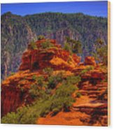 The Wedding Rock In Sedona Wood Print