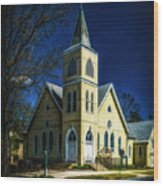 The Wenonah United Methodist Church Wood Print