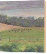 The West Cow Pasture Early Morning Wood Print