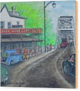 The West End Carryout At The Bridge Wood Print