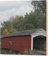 The West Union Covered Bridge Wood Print