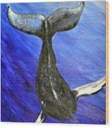 The Whale Wood Print