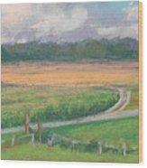 The Wheat Field Wood Print