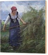 The Wheatfield Wood Print