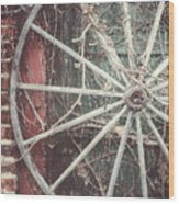 The Wheel And The Ivy Wood Print