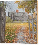The Whipple House Wood Print by Susan Cole Kelly
