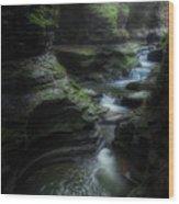 The Whirlpool Wood Print
