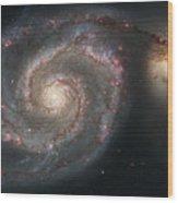 The Whirlpool Galaxy M51 And Companion Wood Print