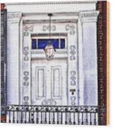 The White Balcony Wood Print