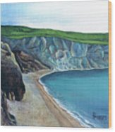 The White Cliffs Of Dover Wood Print