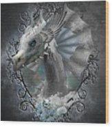 The White Dragon Wood Print