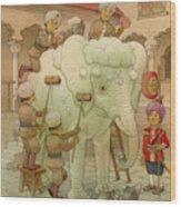 The White Elephant 02 Wood Print