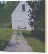 The White Garage - Art By Bill Tomsa Wood Print