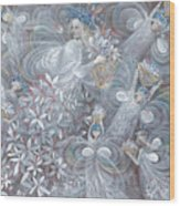 The White Hibiscus Wood Print