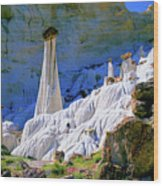 The White Hoodoos Wood Print