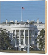 The White House - 1600 Pennsylvania Avenue Washington Dc Wood Print by Brendan Reals