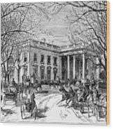 The White House, 1877 Wood Print