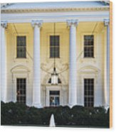 The White House Wood Print by John Greim