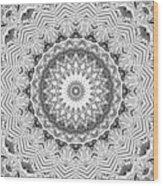 The White Kaleidoscope No. 2 Wood Print