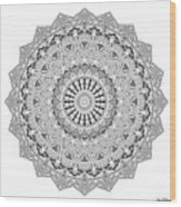 The White Mandala No. 3 Wood Print