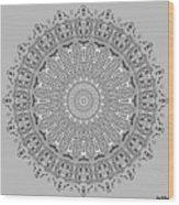 The White Mandala No. 4 Wood Print
