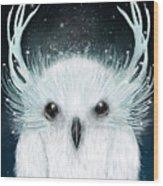 The White Owl Wood Print