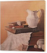 The White Pitcher Wood Print