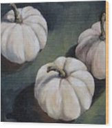 The White Pumpkins Wood Print