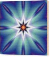 The White Star Wood Print