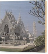 The White Temple Wood Print