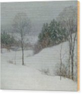 The White Veil Wood Print by Willard Leroy Metcalf