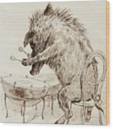The Wild Boar Wood Print