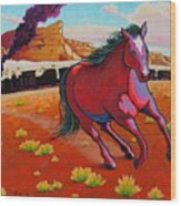 The Wild One - Mustang Wood Print
